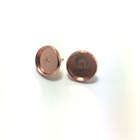 Silver Studs, 12mm - 20pcs - Rose Gold