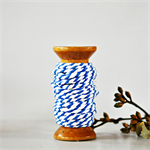 Super Chunky {30ply} Blue Striped Twine {5m} Blue White Cord