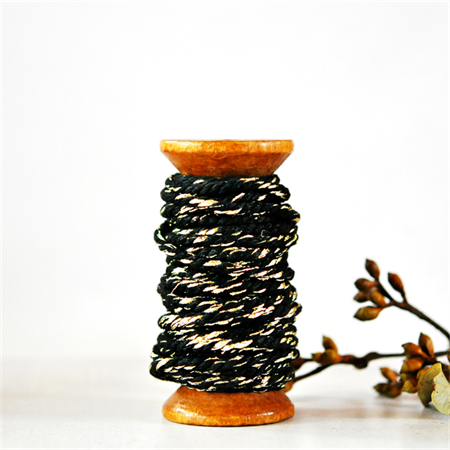 Super Chunky {30ply} Black Twine {5m} | Black Gold Bakers Twine or Cord