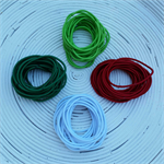 Christmas Snagless Hair Ties/Elastics Pack (Greens, Red & White)