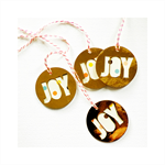 Custom Gold Shiny JOY Cutout Tags | Christmas Tags | Festive Tags | Seller Tags