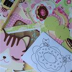 Mini Activity Set/Cat Lovers/Holiday Fun for Adults/Kids/ScrapbookingFun