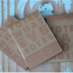 3 Kraft Notebooks ~ DIY Notebooks ~ Christmas Gift DIY ~ Grid Lines