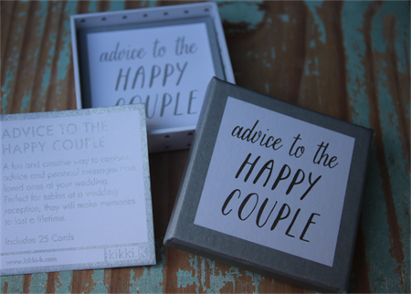 Wedding Advice Cards ~ Advice to the Happy Couple ~ Use as is or DIY Project