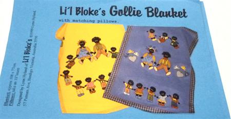 Li'l Bloke's Gollie Blanket designed by Lyn Hyland