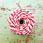 Super Chunky {30ply} Red Striped Twine {5m} Red White Cord | Christmas in July