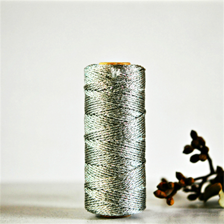Sparkly Silver Bakers Twine | Silver Metallic Twine | Sparkly Silver Twine {10m}