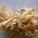 Beige nylon lace 10mm - 15m