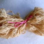 Beige nylon lace 10mm - 20m