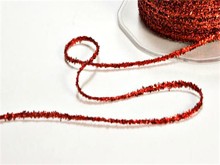 Sparkly Red Tinsel Twine | Sparkly Red Glitter String