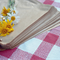 100x SQUARE NATURAL BROWN FLAT Kraft Paper Bags - 177 x 177mm