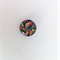 Cabochon beads, glass, flat backed, vintage Japanese print (X8-14mm)
