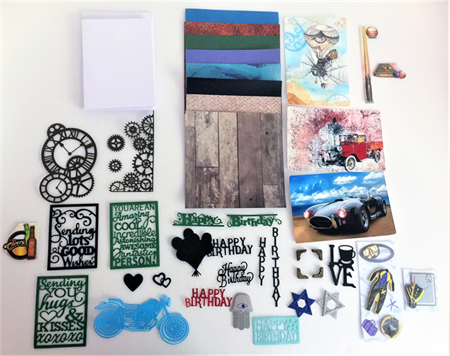 Card making kit (Men's birthday)