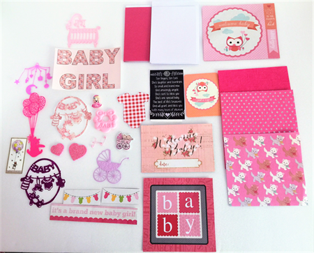 Card making kit (Baby girl)