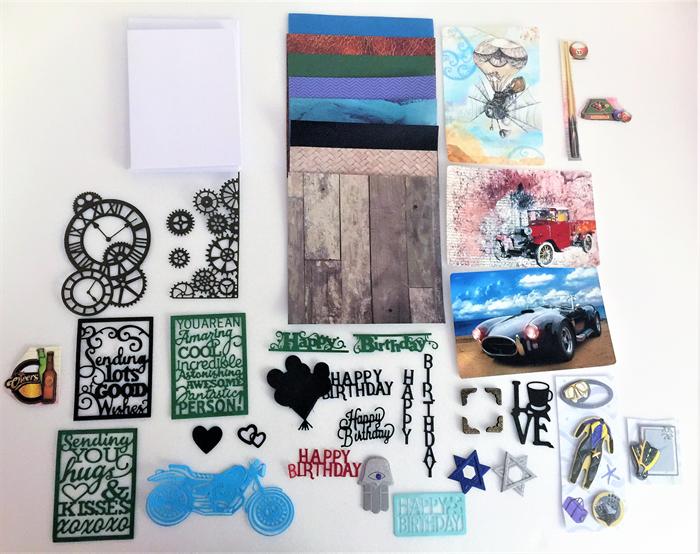 Card Making Kit Mens Birthday