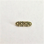 Gold 3 hole spacer beads