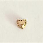 Gold heart beads