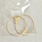 Gold earring hoop findings