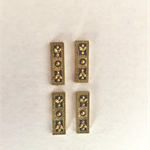 Gold 3 hole metal spacer bars