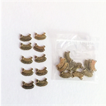 20 Gold jewellery connector bars