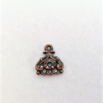 Copper 3 hole jewellery connector