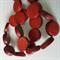 15mm Flat Round Wooden Beads Burnt Orange