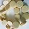 15mm Flat Round Wooden Beads Pastel Light Yellow