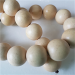 15mm Flat Round Wooden Beads Natural