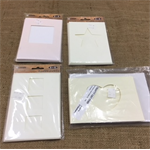 Blank cards with Envelopes - set of 5 (cut out shapes)