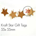 Kraft Star Tags {20} Heart Tags | Blank Kraft Tags | Scrapbooking