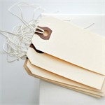 Vintage {20} Plain Manila Shipping Tags / With Ties | Merchandising Labels