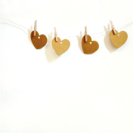Kraft {20} Small Heart Tags | Kraft Heart Tags | Blank Kraft Tags
