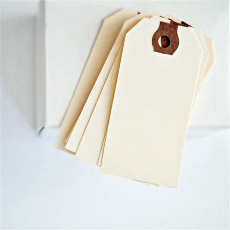 Vintage {20} Plain Manila Shipping Tags / No Ties | Merchandising Labels