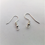 Earring hook wires, silver