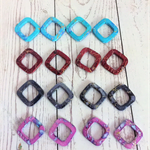 Beads, acrylic drawbench hollow rhombus spacers
