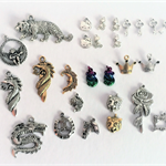 25 mixed charms