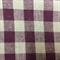 Burgundy/Beige Check Cotton Fabric