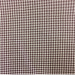 Cotton Fabric - small check burgundy