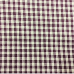 Burgundy/Beige Check Cotton Fabric