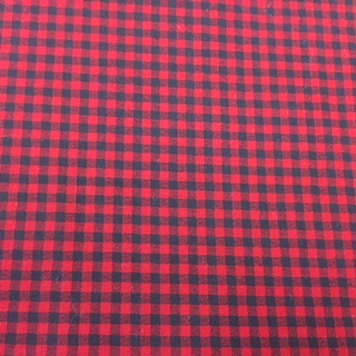 Red and Black Check Cotton