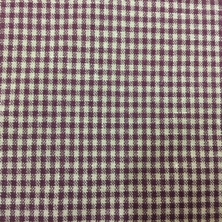 Brown/Beige or Green/Beige Small Check Cotton Fabric