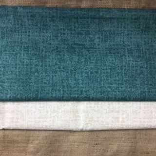 Fabric - Cotton in Green and Beige Colourways
