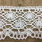 Wide Cream Cotton Lace