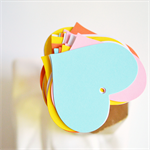 Large {25} Pastel Heart Tags | Blank Heart Tags | Merchandising Tags Labels