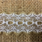 White Insertion Lace edged Red/Green or Gold