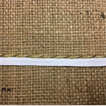 White/Gold Braid 1 cm