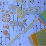 Scrapbooking Pieces Cardmaking/DIY Projects ~ Horse ~ Icecream ~ Live Love Laugh