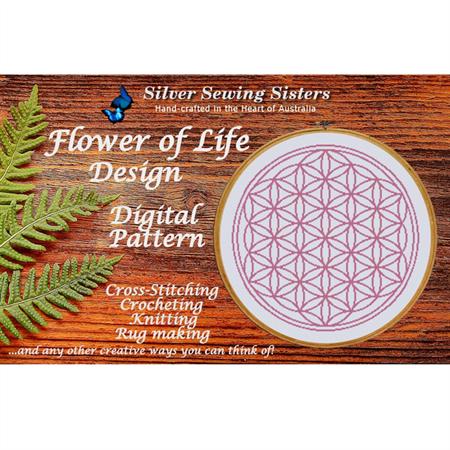 Flower Of Life ~ Cross Stitching, Knitting, Crocheting, Rug Making SE40015