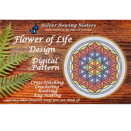 Flower Of Life ~ Cross Stitching, Knitting, Crocheting, Rug Making SE40016