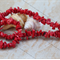 Red genuine coral large chip beads 